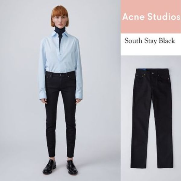 [Acne] South stay black ストレートレッグスリムフィット black