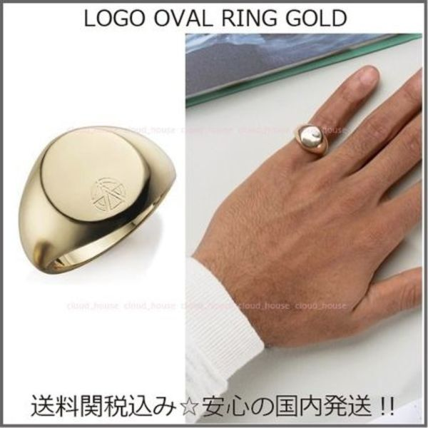 国内発送◆Chained&Able☆LOGO OVAL RING GOLD☆送料関税込