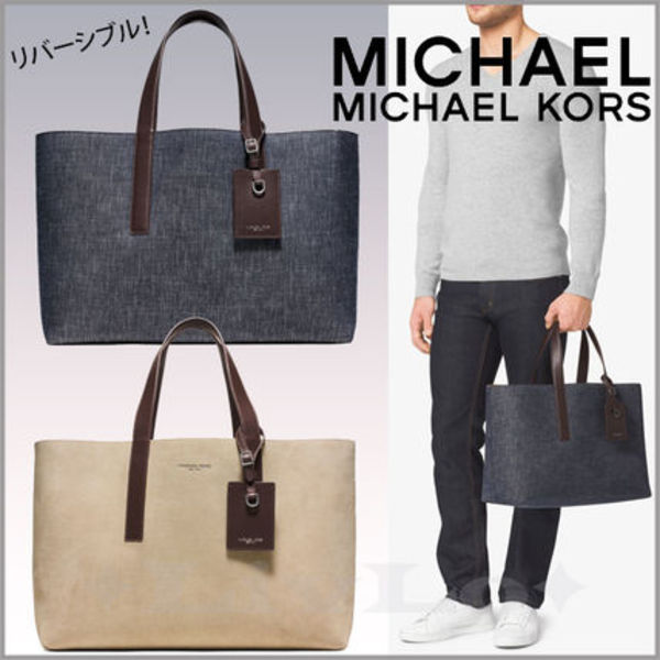 【追跡有】リバーシブル!Michael Kors Mason Denim Tote