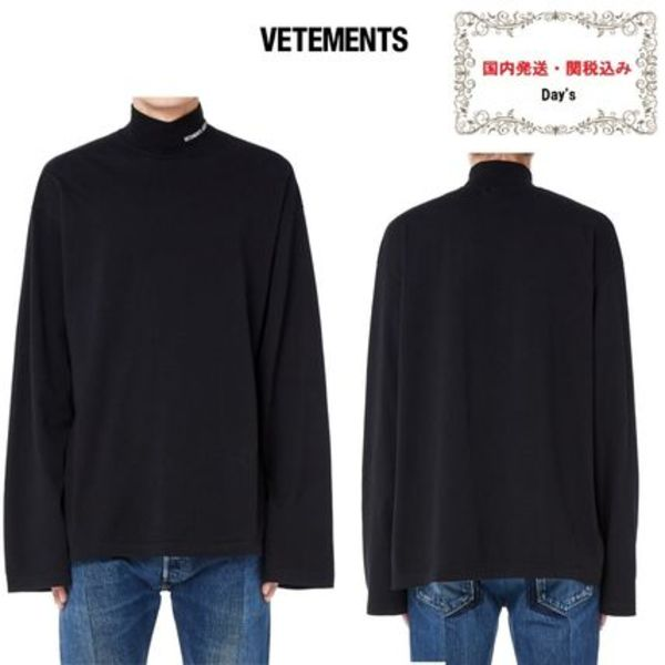 *新作*VETEMENTS☆Cotton Embroidered Turtleneck