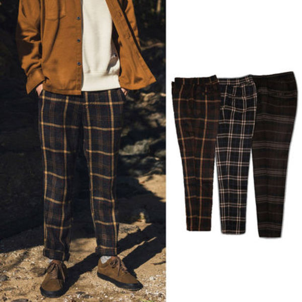 ★Filluminate★韓国 UNISEX Wool Check Pants【3色】