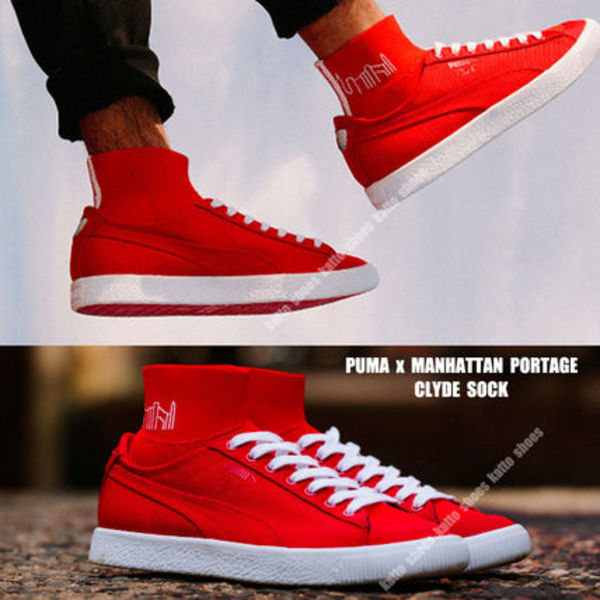 PUMA x MANHATTAN PORTAGE★CLYDE SOCK★コラボ★HIGH RISK RED