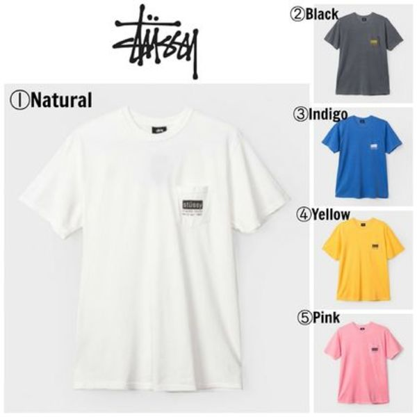 【STUSSY】☆17SS新作☆CLASSIC ROOTS PIGMENT DYE POCKET TEE