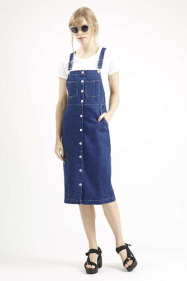 《レトロなシルエット♪》☆TOPSHOP☆Vintage Wash Midi Dress
