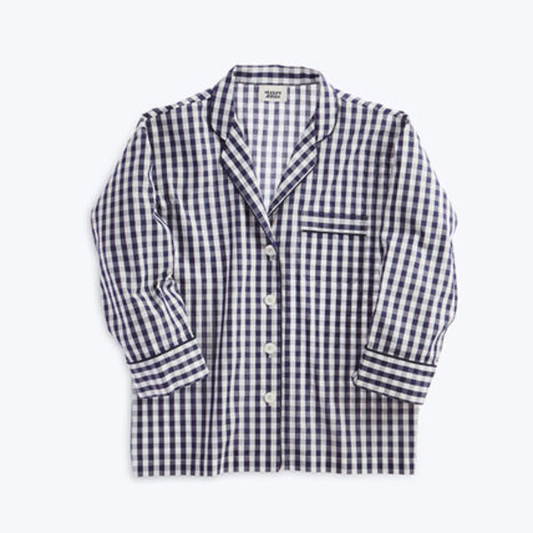 【国内発送】SLEEPY JONES★Marina Pajama Shirt Navy Gingham