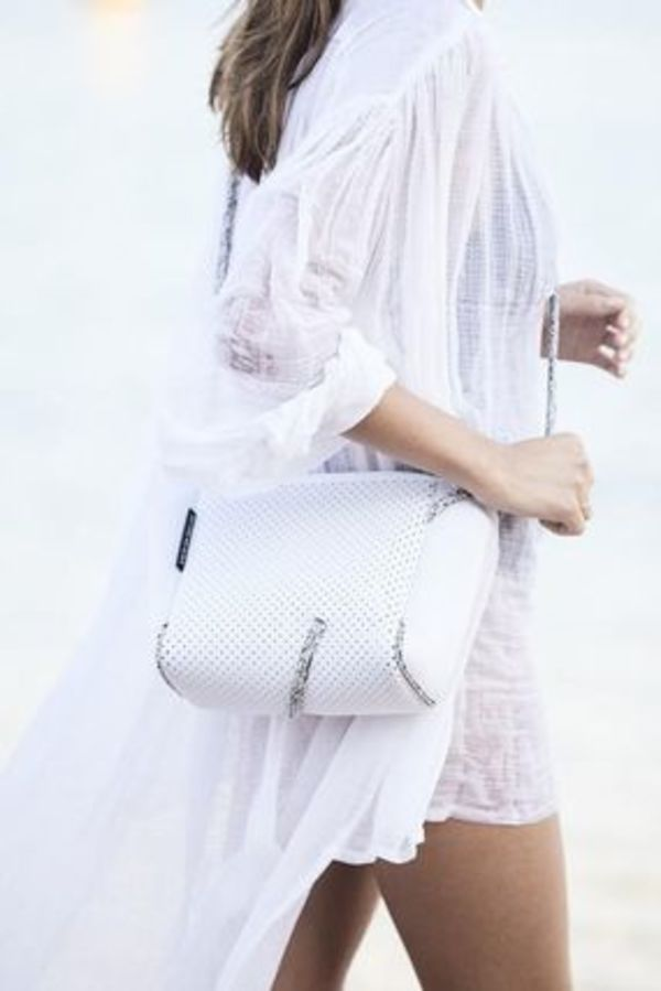 FESTIVAL MINI CROSSBODY BAG IN WHITE WITH BLENDED ROPE