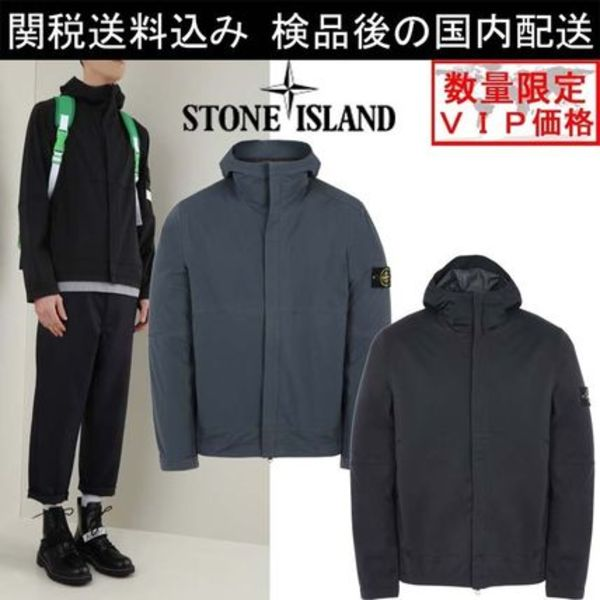 関税送料込 STONE ISLAND LIGHT SOFT SHELL SI CHECK GRID