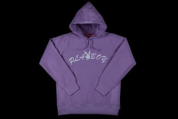 新作!17Supreme Playboy Sweatshirtパーカ ラベンダー