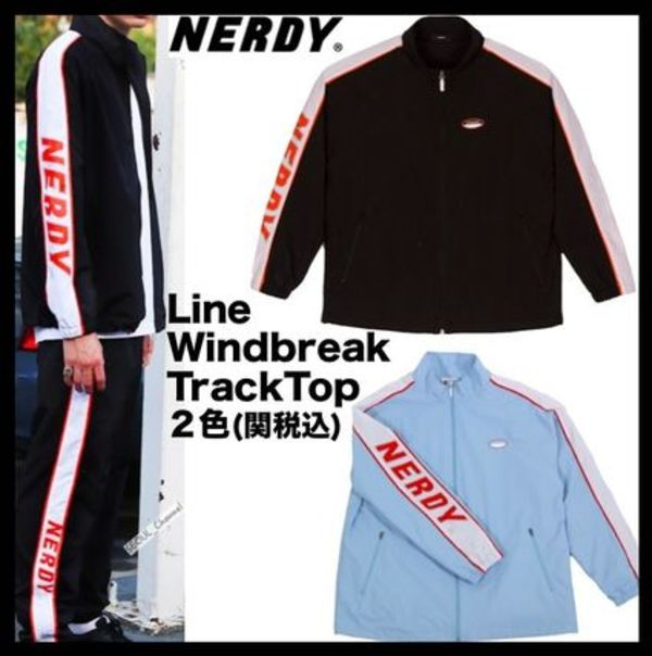 ☆イベント中/関税込☆NERDY★Line Windbreak Track Top 2色