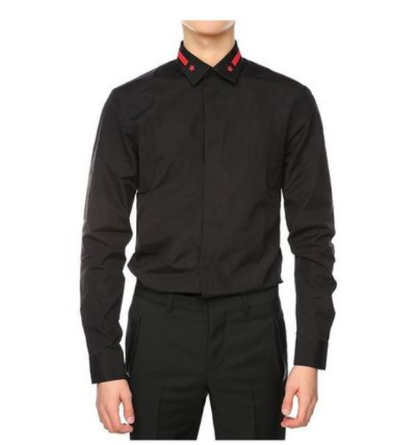 【関税負担】 GIVENCHY 16SS BLACK SHIRTS RED STAR