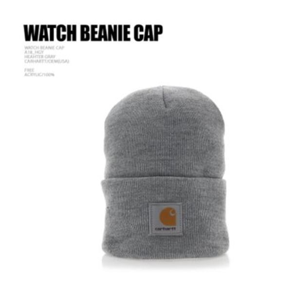 新作★Carhartt★WATCH BEANIE HEAHTER GRAY
