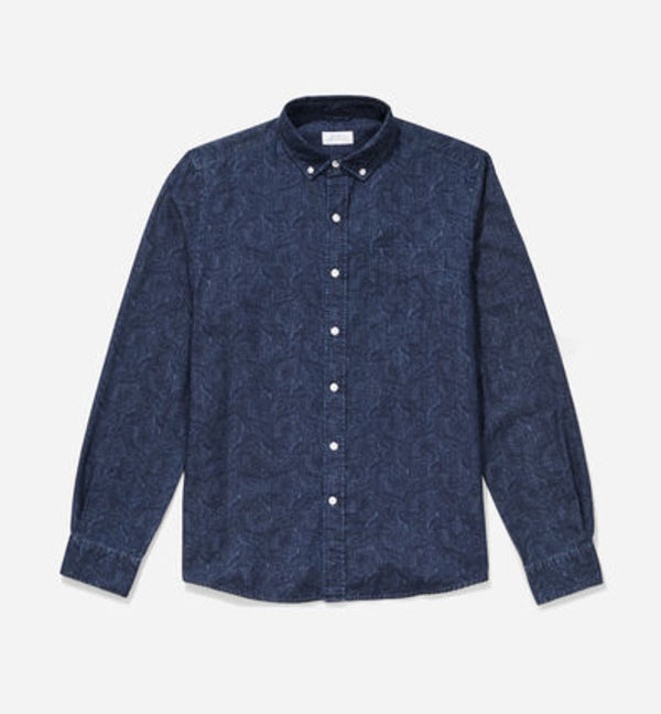 【即納】Saturdays Surf Crosby Button Down Paisley Denim