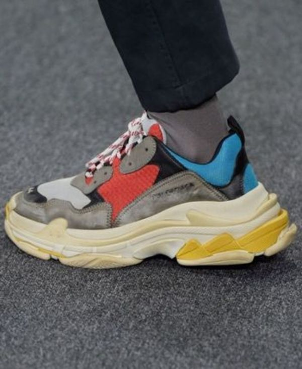 BALENCIAGA*TRIPLE S RED, BLUEトリコ 42 トリプルS