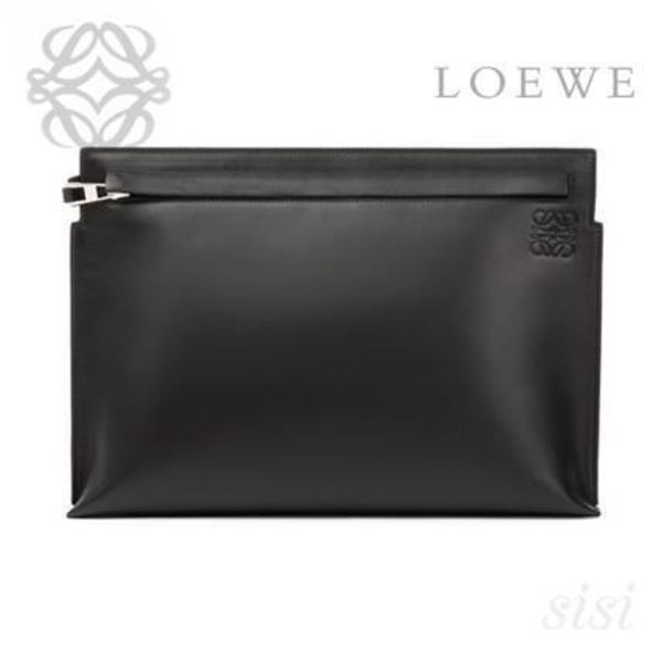 LOEWE★ロエベ T Pouch Stamp Black