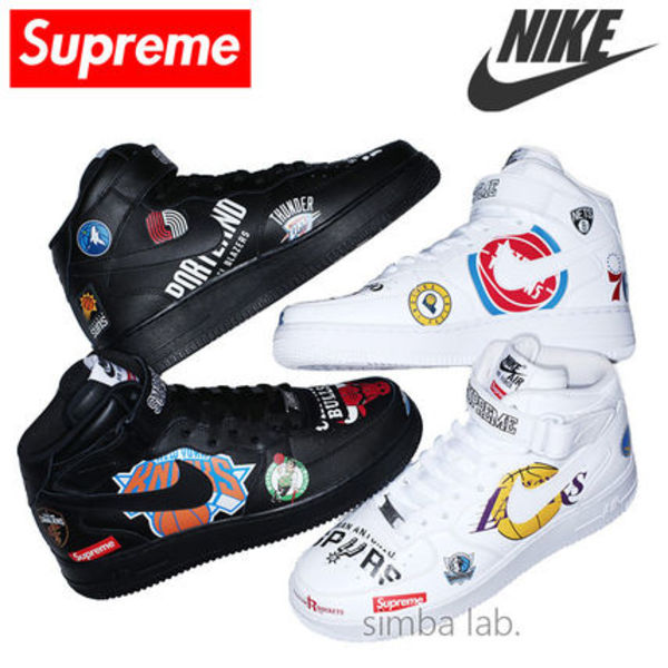 【レアモデル】 Supreme × Nike NBA Teams Air Force 1 Mid