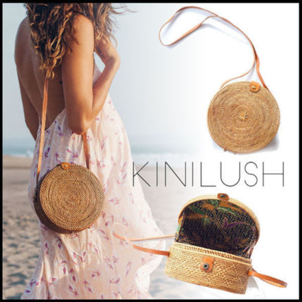 送料関税込☆KINILUSH ULU THE LABEL SULAWESI BIG ROUND BAG