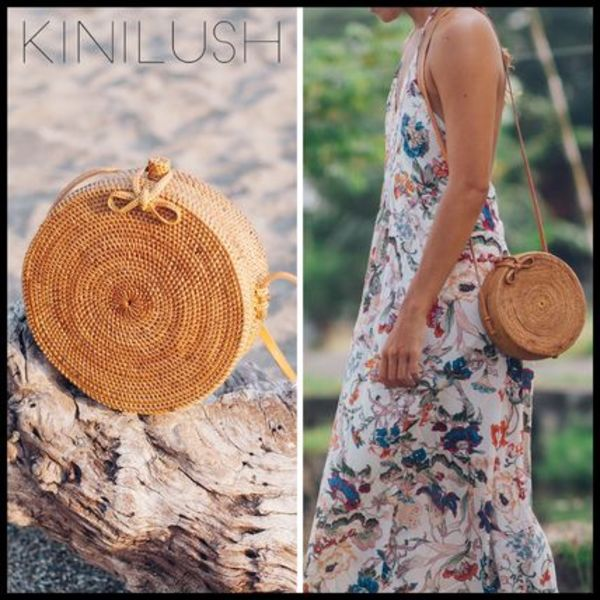 送料関税込☆KINILUSH ULU THE LABEL LOMBOK BIG ROUND BAG