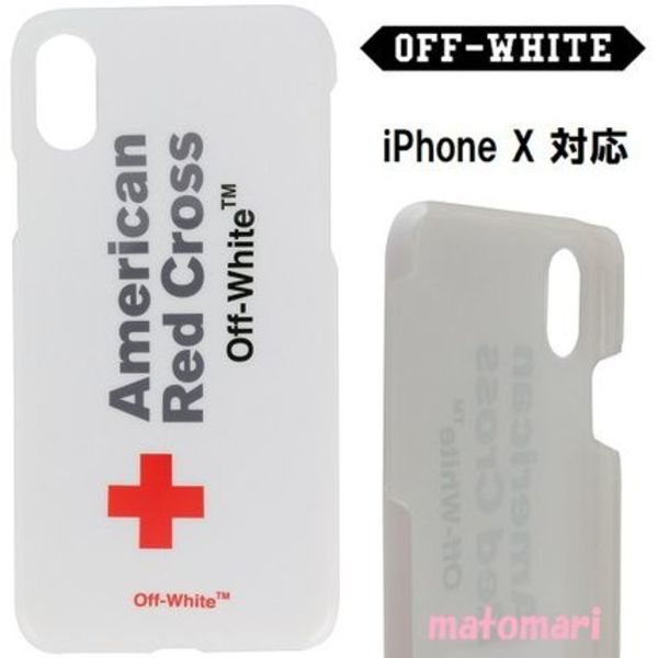 【Off-White】American Red Cross iPhoneX スマホケース★関送込