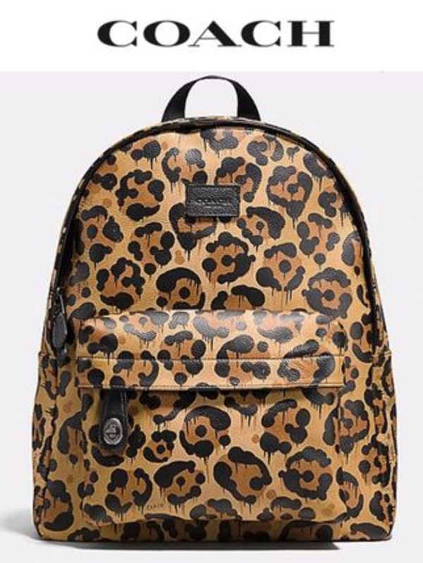 Coach ☆☆36445☆☆SMALL Campus Backpack in wild beast print
