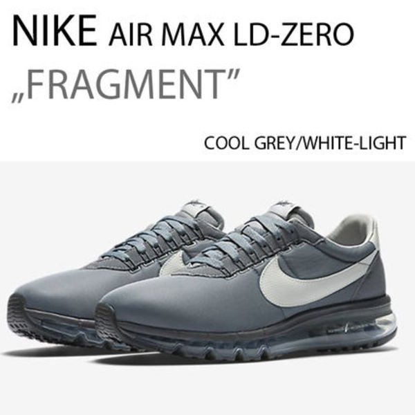 NIKE AIR MAX LD-ZERO FRAGMENT GREY/WHITE フラグメント