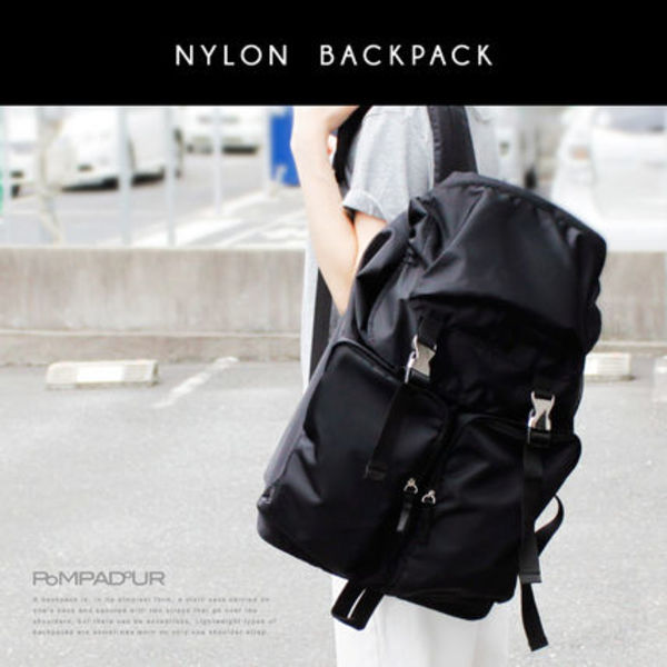 【Pompadour】Nylon Backpack ナイロンバックパック 保存袋付き