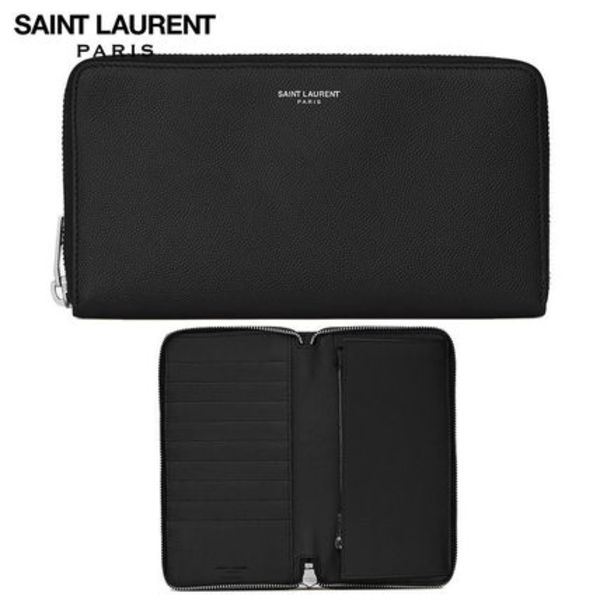 【正規品保証】SAINT LAURENT★18春夏★ZIP AROUND WALLET_BLACK