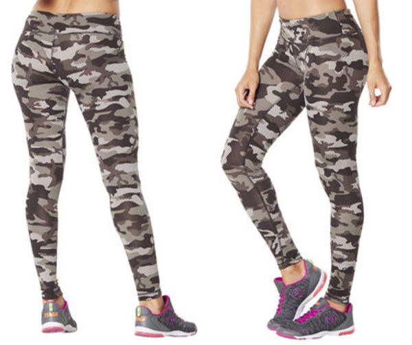 8月新作/ZUMBA/ズンバ/Camo Perfect Long Leggings-Smoke