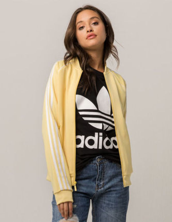 ☆ADIDAS☆ SST Womens Pale Yellow Track Jacket☆