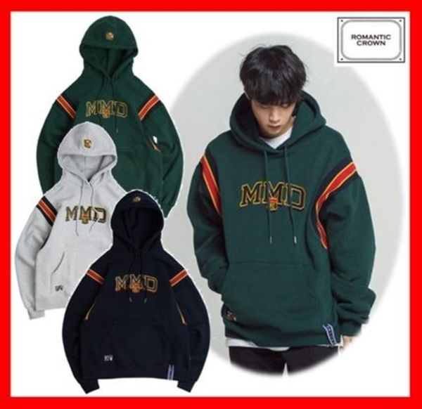 18SS☆人気【ROMANTIC CROWN 】★ MMD BAND HOODIE☆2色★
