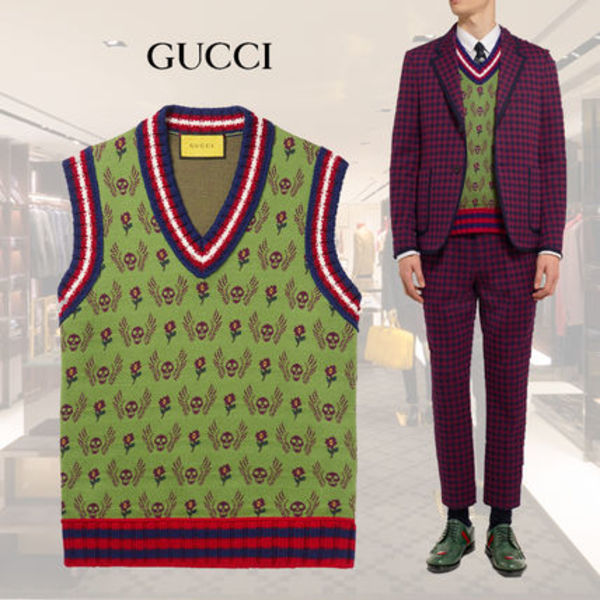 【関税送料込】17FW★GUCCI★Wool And Cotton-Blend Vest