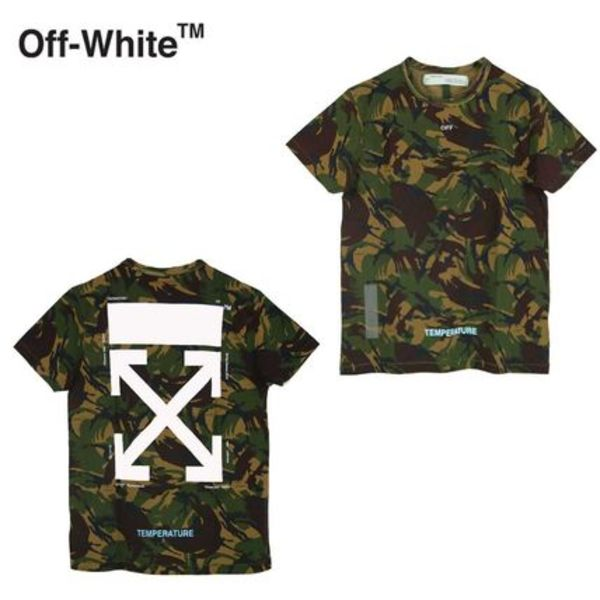 Off White オフホワイト CAMOUFLAGE Tシャツ カモフラ柄
