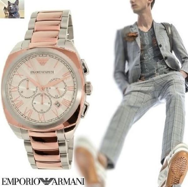 【EMPORIO ARMANI】2 colour Steel ドレスウォッチ