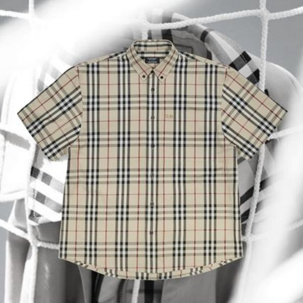 **GoshaRubchinskiyXBurberry**Short Sleeved Check Shirt Honey