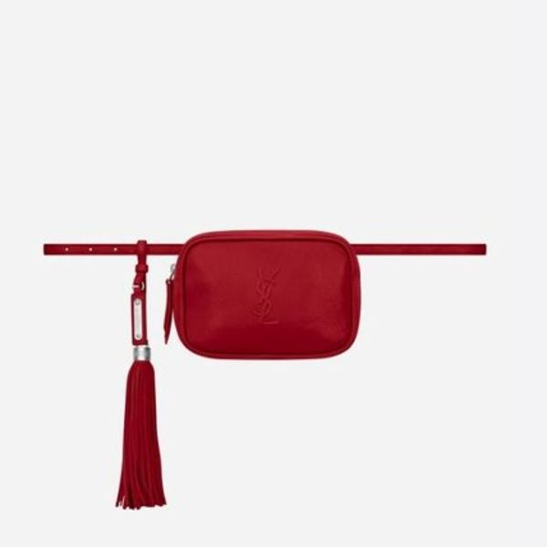 LOU BELT BAG IN RED LEATHER