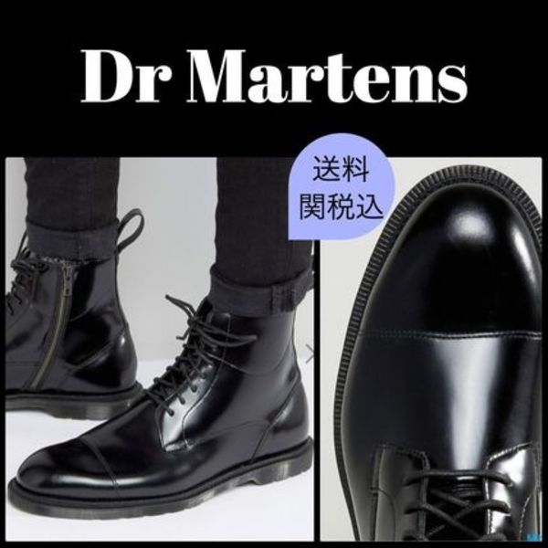 ★Dr Martens★ Winchester 7 eye レース&ジップブーツ 黒
