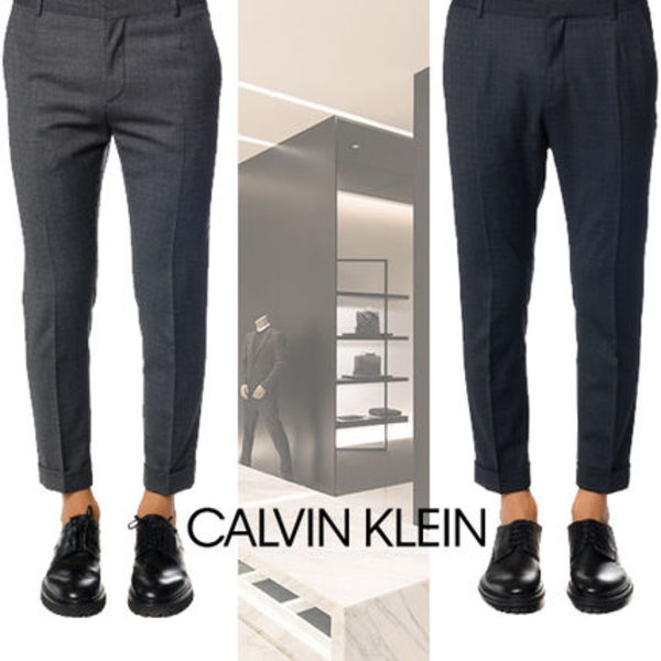 FW2017/18 数量限定 CALVIN KLEIN MIXED WOOL TROUSERS