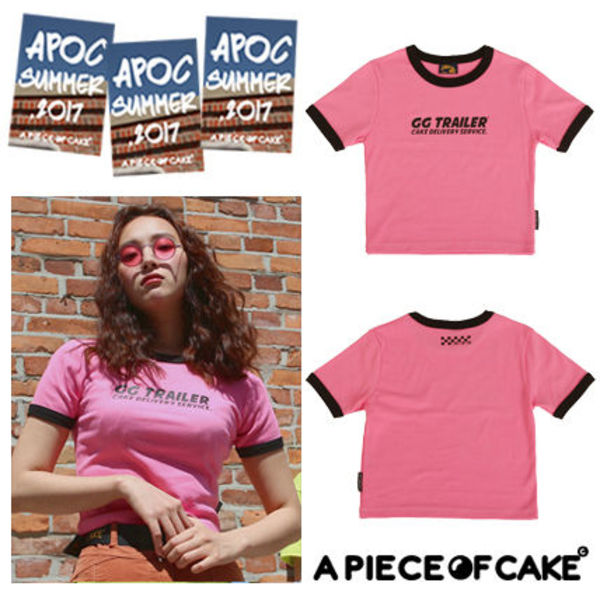 [A PIECE OF CAKE]韓国発 GG Trailer Crop Top_Pink