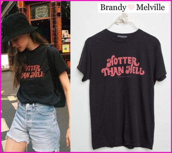 ☆新作*日本未入荷☆Brandy Melville☆HOTTER THAN HELL TOP