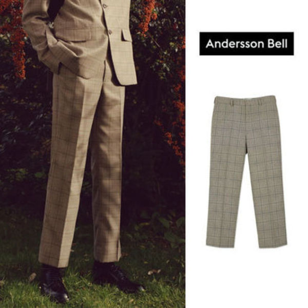 ANDERSSON BELL正規品★ERIKSSONグレンチェックパンツ★メンズ