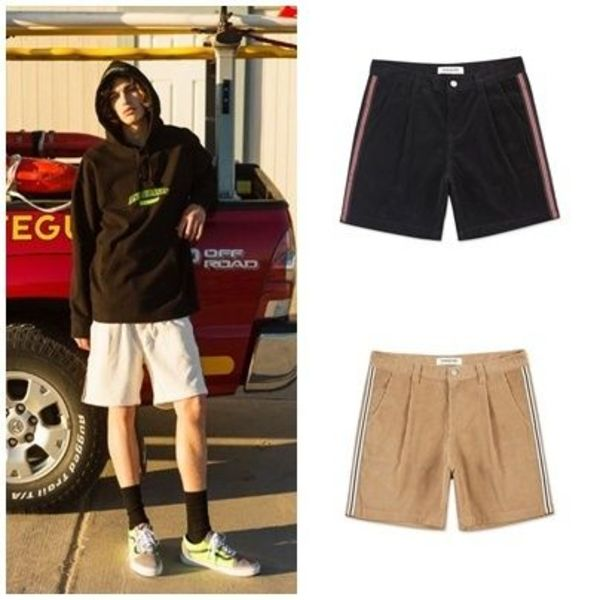 ANDERSSON BELLのCORDUROY LINE CAMP SHORTS apa176m 全3色