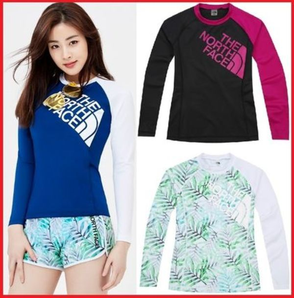 THE NORTH FACE★W'S SUPER BIG LOGO RASHGUARD/追跡付