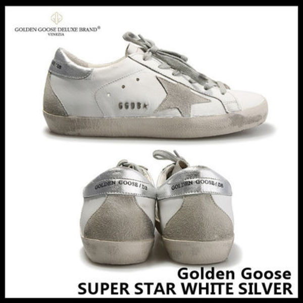 【Golden Goose】SUPER STAR WHITE SILVER GCOWS590 W77