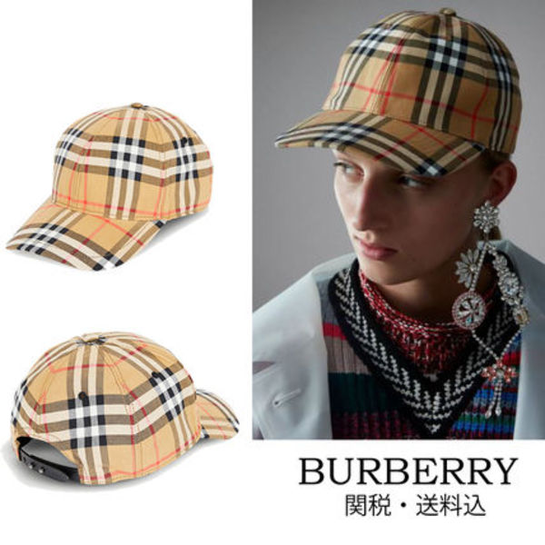 BURBERRY Vintage check cotton  ベースボールキャップ
