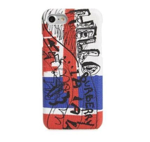♥BURBERRY♥18SS iPhone 7 Doodle 本皮ケース♪