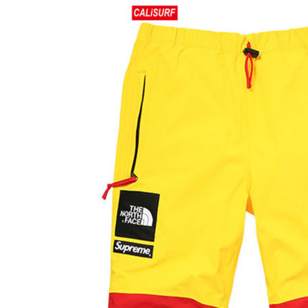 大人気コラボ☆S Supreme x TNF Gore Tex Pants/ Yellow