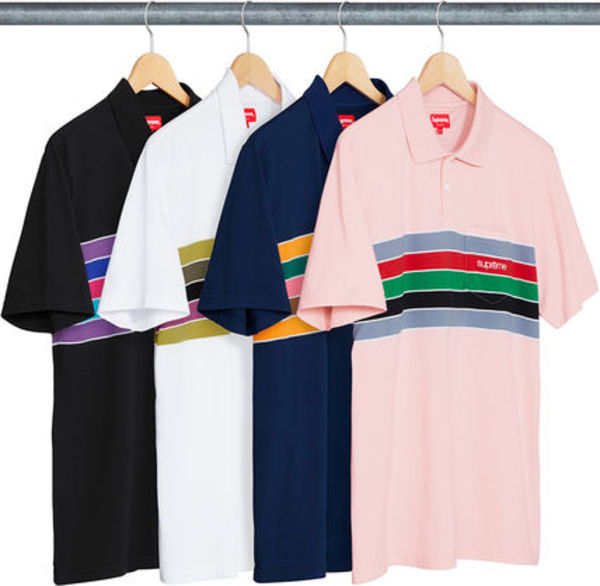 WEEK6!新作★SUPREME CHEST STRIPES POLO