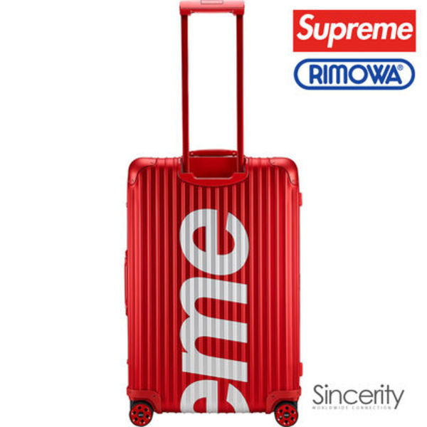 【即発】SUPREME RIMOWA TOPAS MULTIWHEEL / RED / 82L
