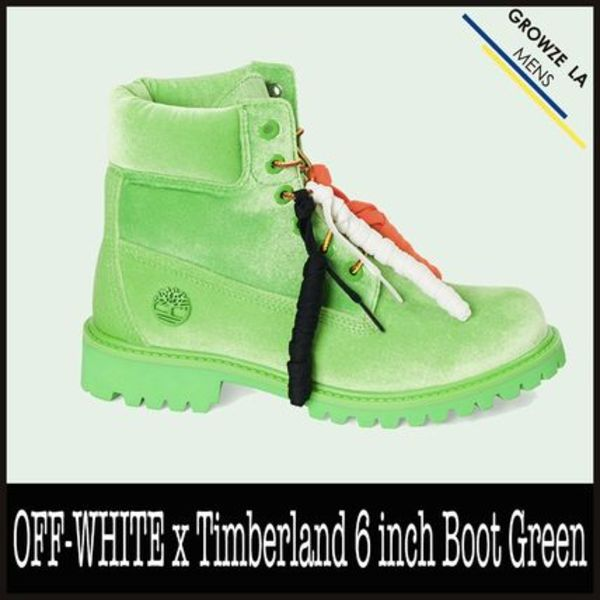 ★【OFF-WHITE】OFF-WHITE x Timberland 6 inch Boot Green