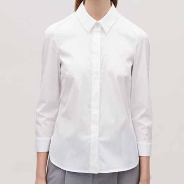 """COS""SLIM STRETCH-COTTON SHIRT WHITE"