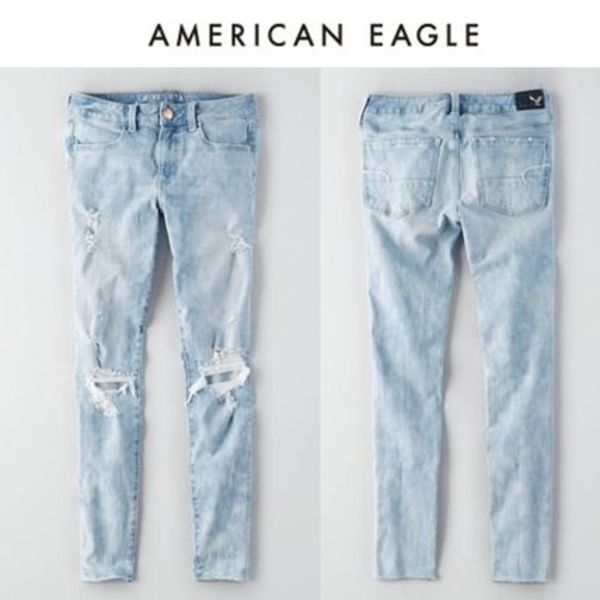 ☆American Eagle ☆ 9636 Lt destroy 4way ellie jegging pants